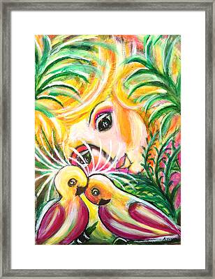 Framed Print featuring the painting Costa Rica by Anya Heller