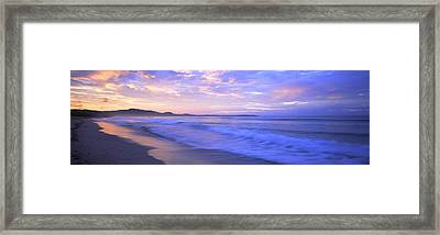 Costa Rica, Beach At Sunrise Framed Print by Panoramic Images