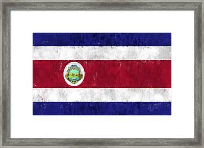 Costa Rica Flag Framed Print