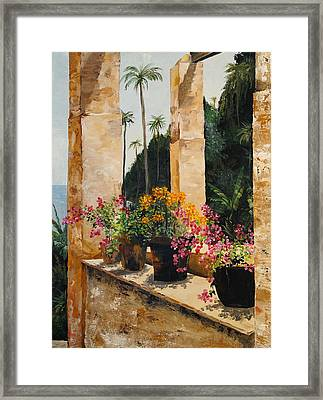 Costa Rica Floral Framed Print