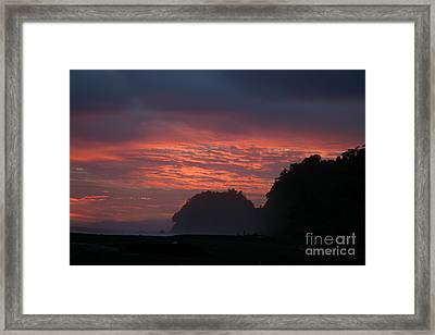 Costa Rica Sunset Framed Print by Michelle Wiarda