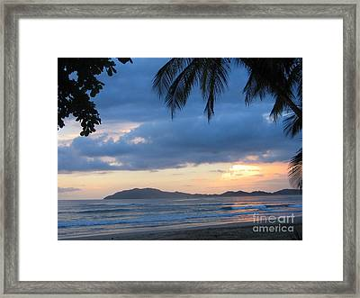 Framed Print featuring the photograph Costa Rica Sunset by Shelia Kempf