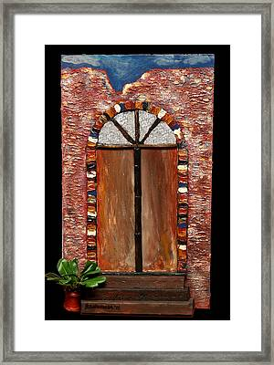Costa Rican Doorway Framed Print