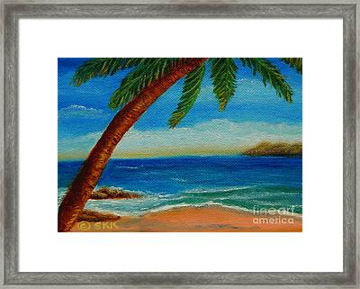 Framed Print featuring the painting Costa Rican Palm by Shelia Kempf