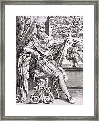Costume And Armour Of The Captain Framed Print by Italian School