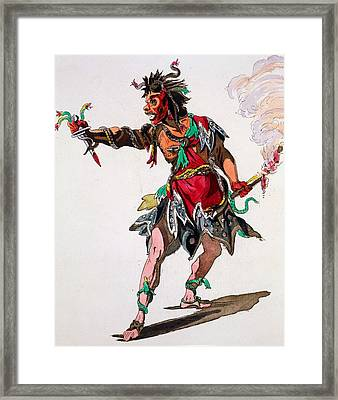 Costume Design For A Fury Framed Print by French School