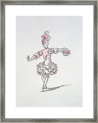 Costume Design For A Young Egyptian Dressed As Spring Framed Print by French School
