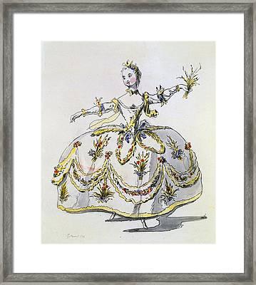 Costume Design For Ceres, Facsimile Framed Print