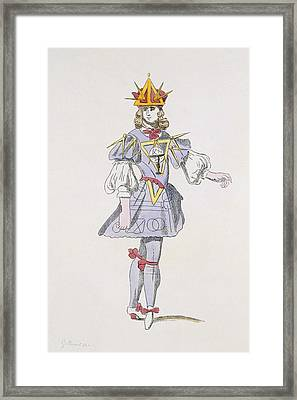 Costume Design For Geometry In A 17th Framed Print by French School