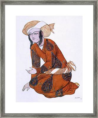 Costume Design For Ladoration De Framed Print