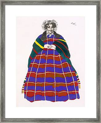 Costume Design For Madame Loenfowitch Framed Print