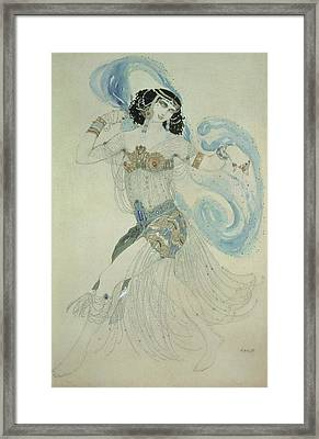 Costume Design For Salome In Dance Of The Seven Veils, 1909 Wc Framed Print by Leon Bakst