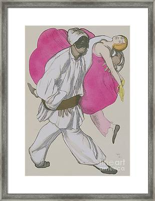 Costume Designs For Pamina And Monostatos In The Magic Flute Framed Print