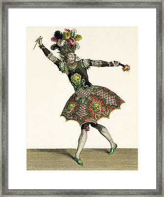 Costume For A Demon In Armide, Psyche Framed Print by Jean Baptiste Martin