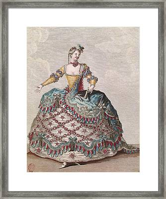 Costume For An Indian Woman For The Opera Ballet Les Indes Galantes By Jean-philippe Rameau Framed Print