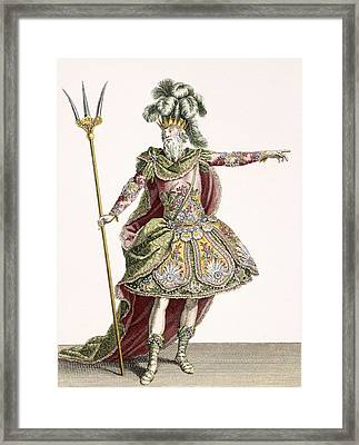 Costume For Neptune In Several Operas Framed Print by Jean Baptiste Martin