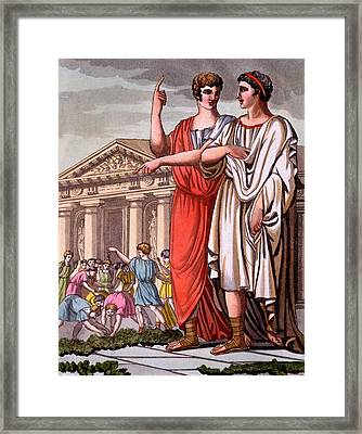 Costume Of The Candidate For Office Framed Print