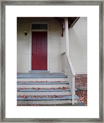 Cozy Cottage Door Framed Print