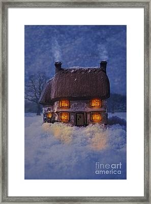 Cosy Country Cottage Framed Print