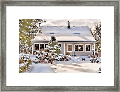 Cosy In Winter Framed Print