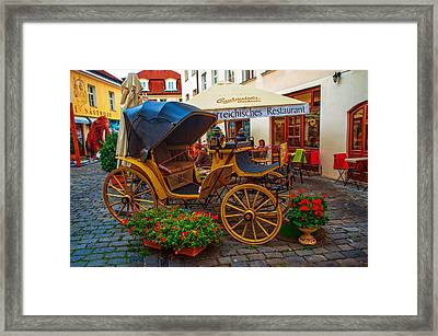 Cosy Restaurant Na Kampe. Prague Framed Print by Jenny Rainbow