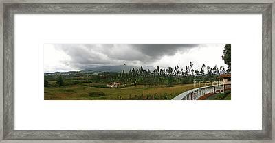 Cotacachi Panorama Framed Print by Al Bourassa