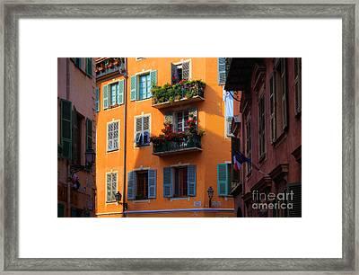 Cote D'azur Alley Framed Print by Inge Johnsson