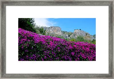 Cote D'azur Purple And Blue Framed Print