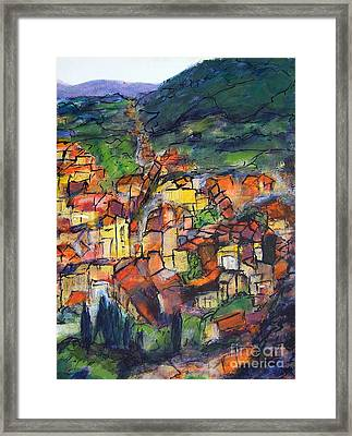Cotignac Provence Framed Print by Jackie Sherwood