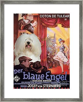 Coton De Tulear Art - Der Blaue Engel Movie Poster Framed Print by Sandra Sij