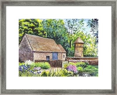 Cotswold Barn Framed Print by Carol Wisniewski