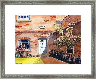 Cottage At Beaconsfield Village Framed Print by Bill Holkham