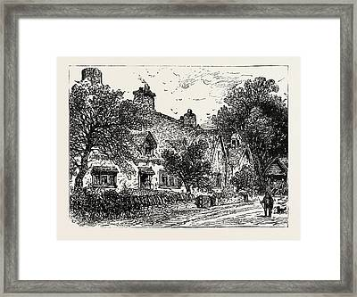 Cottage At Wilmcote, The Residence Of Robert Arden, Father Framed Print