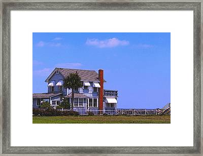 Cottage Blue Framed Print
