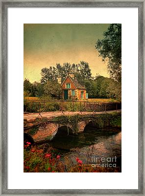 Cottage By The River Framed Print by Jill Battaglia