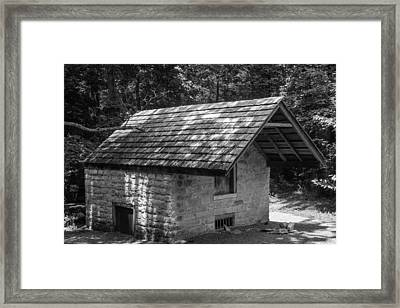 Framed Print featuring the photograph Cottage By The Stream At The Hermitage by Robert Hebert
