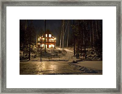 Cottage Country - Winter Framed Print by Pat Speirs