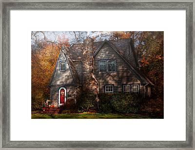 Cottage - Cranford Nj - Autumn Cottage  Framed Print by Mike Savad