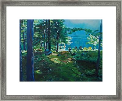 Cottage Deck View Framed Print