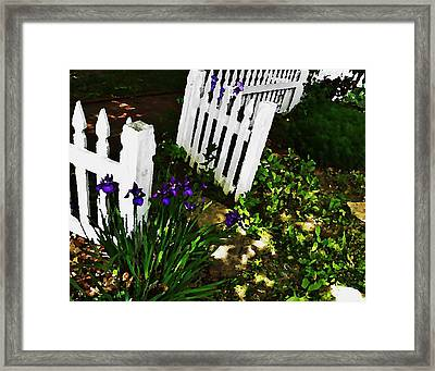 Cottage Entry  Framed Print by Chris Berry