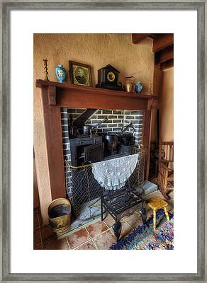 Cottage Fire Place Framed Print by Ian Mitchell