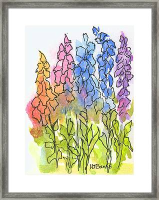 Cottage Flowers Framed Print by Holly Banks
