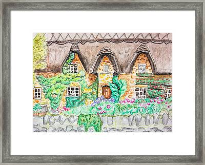 Cottage Front Framed Print by Pati Photography
