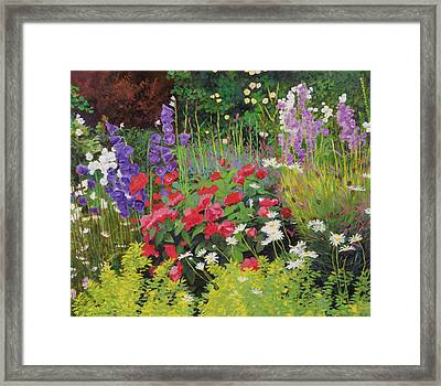 Cottage Garden Framed Print by William Ireland