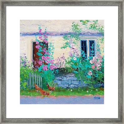 Cottage Garden By Jan Matson Framed Print by Jan Matson