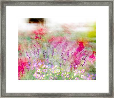 Framed Print featuring the photograph Cottage Garden Impressionism by Linde Townsend