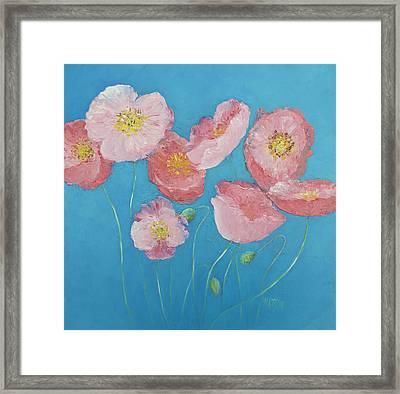 Cottage Garden Poppies Framed Print