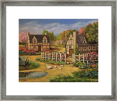 Cottage House Framed Print by Radoslav Nedelchev