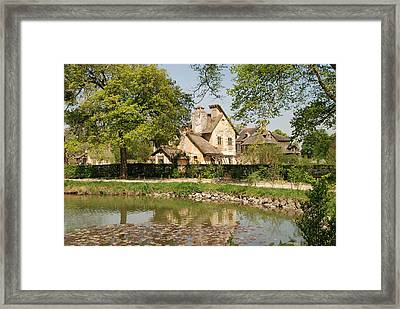 Cottage In The Hameau De La Reine Framed Print by Jennifer Ancker