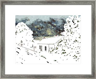 Cottage In The Snow Framed Print by Patrick J Murphy